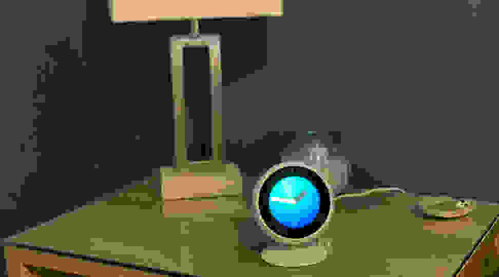 Echo Spot on nightstand