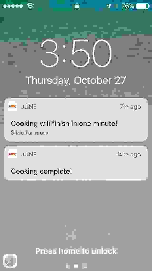 June Oven Timer Fail