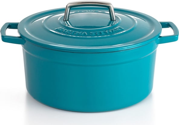 Product Image - Martha Stewart Collection Enameled Cast Iron 6-Quart Round Dutch Oven