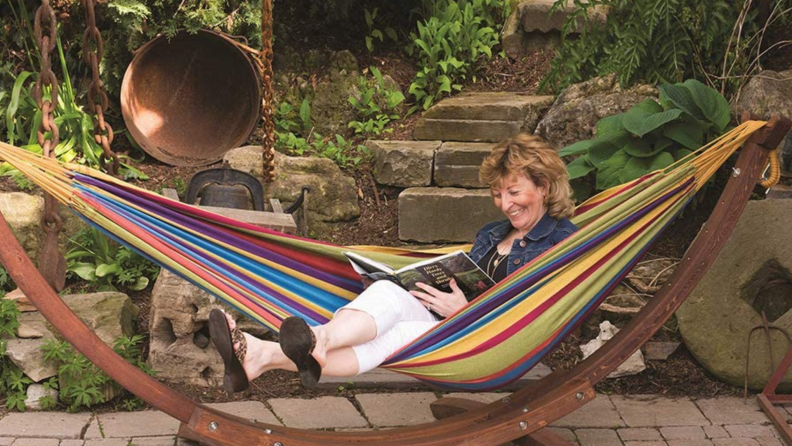 A hammock, for at home glamping
