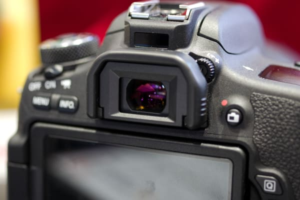 The T6s's small viewfinder was our only disappointment when trying the camera out.