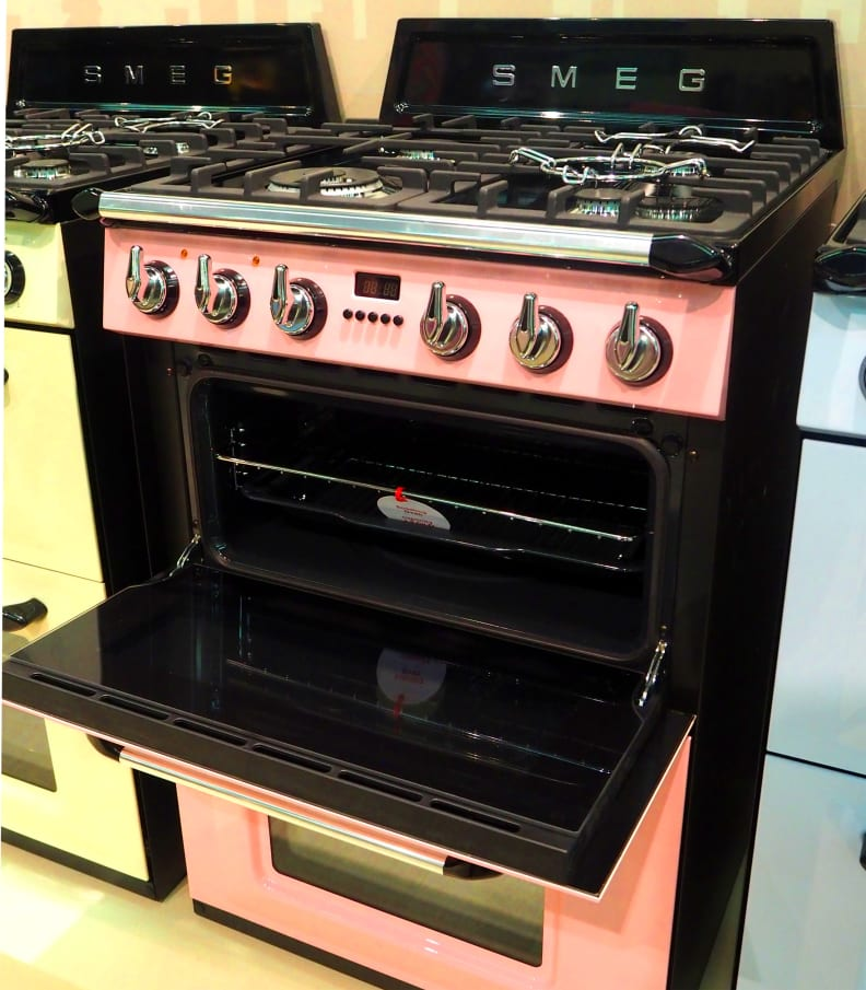 SMEG oven door open
