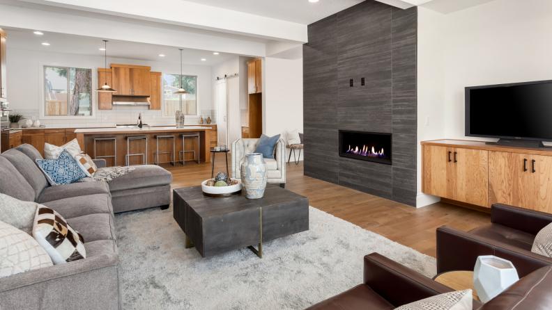 Modern home with open-floor-plan.