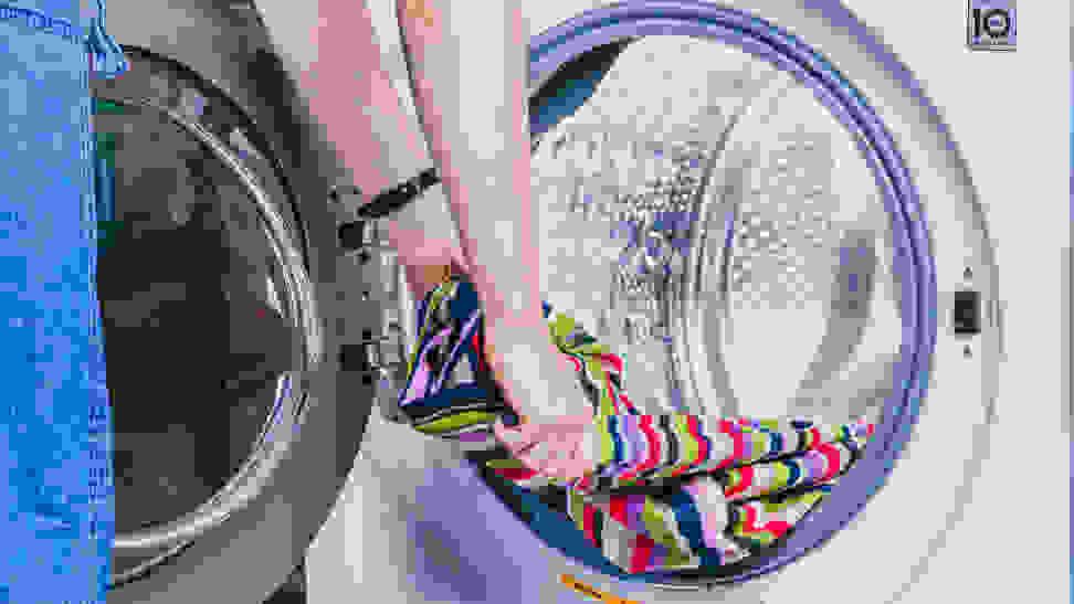 The inside of the LG WM3700HWA washing machine