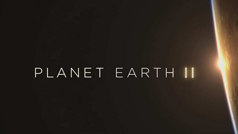 A title card for Planet Earth II that reads