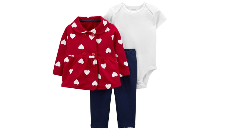 Three-piece cardigan set for toddler