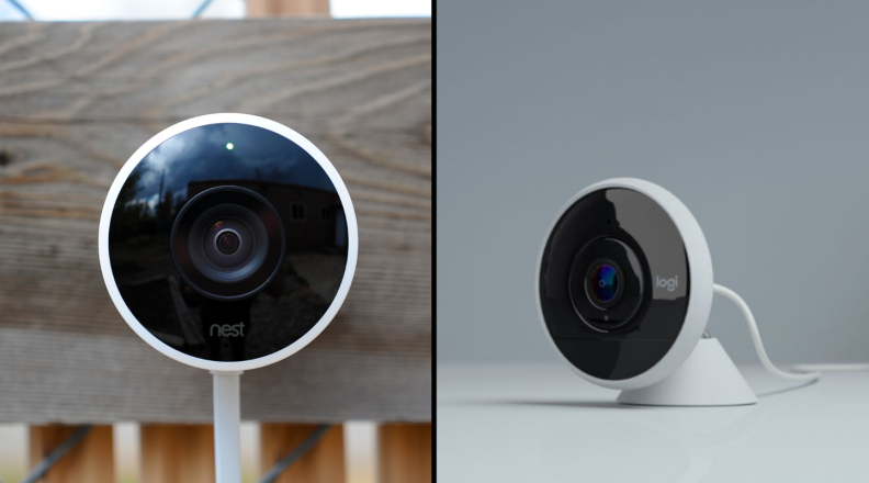 Nest Cam Outdoor and Logitech Circle 2