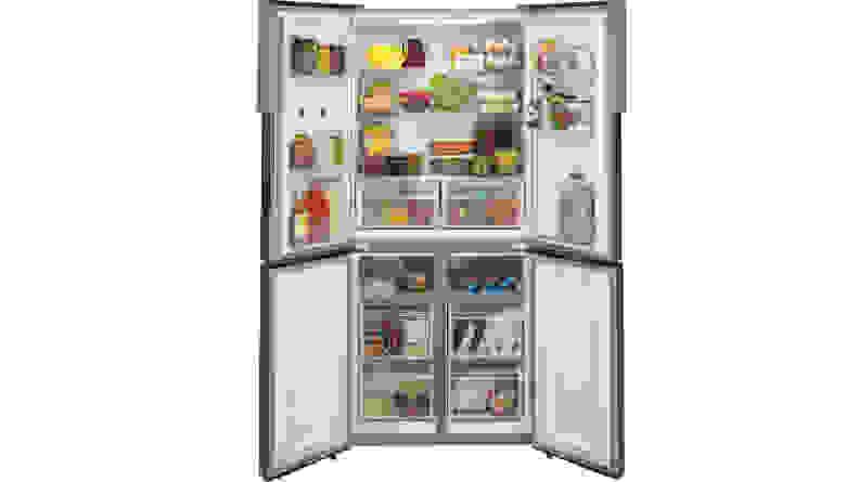 Haier-HRQ16N3BGS-refrigerator-open