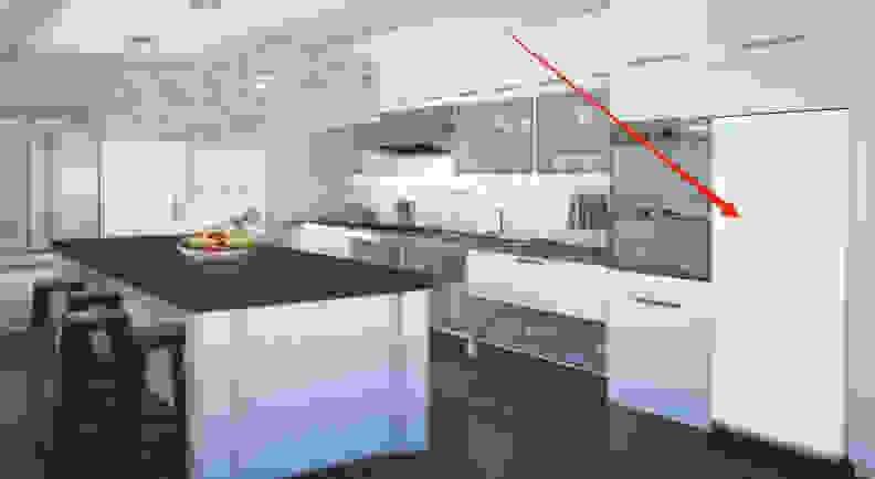 Everblume set in kitchen