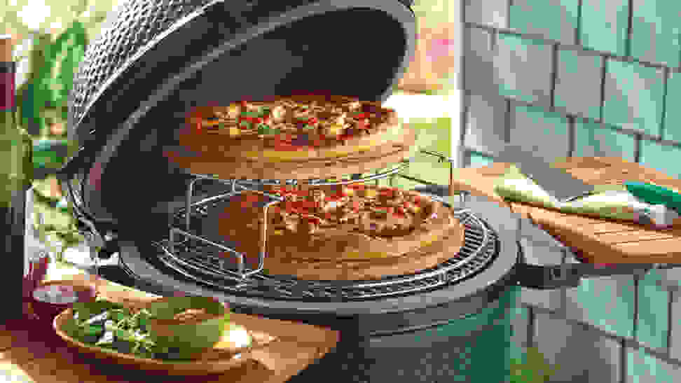 Kamado grill - pizza