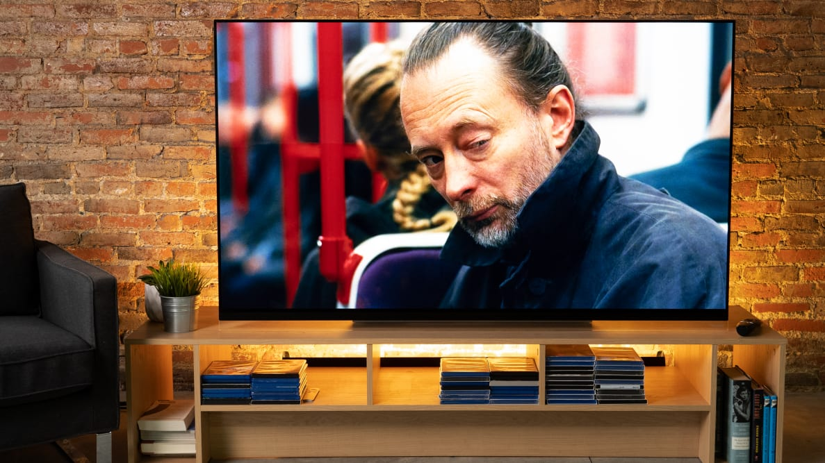 The LG E9 OLED TV with Dolby Vision content