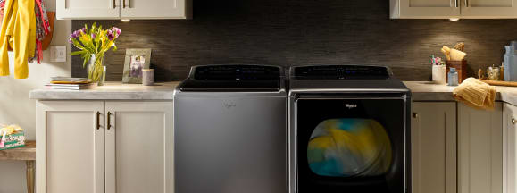Whirlpool smart top load laundry pair amazon dash hero