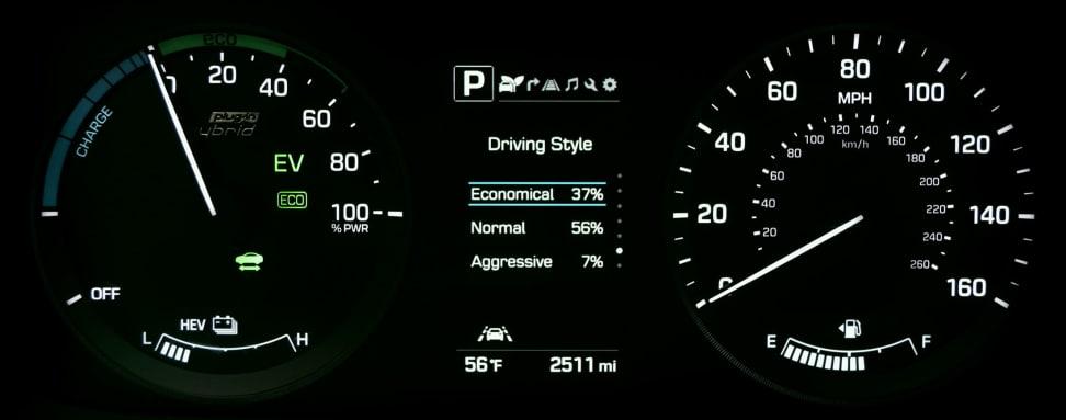 2016 Hyundai Sonata Plug-In Hybrid Driving Style Display