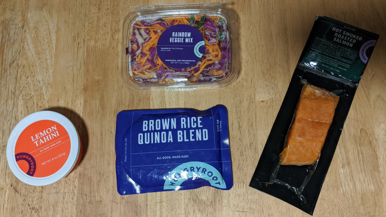 Salmon bowl ingredients