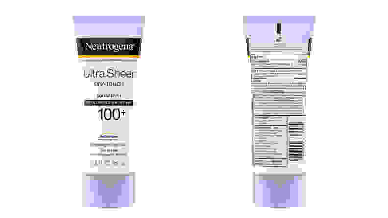 A photo of the Neutrogena Ultra Sheer Dry-Touch Sunscreen Broad Spectrum SPF 100+.