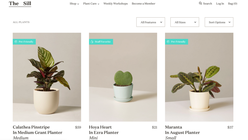 The Sill online shop