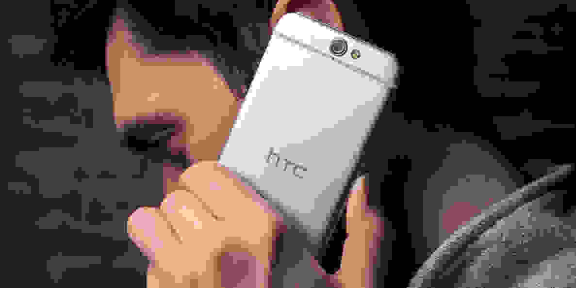 the HTC One A9 being held to an ear