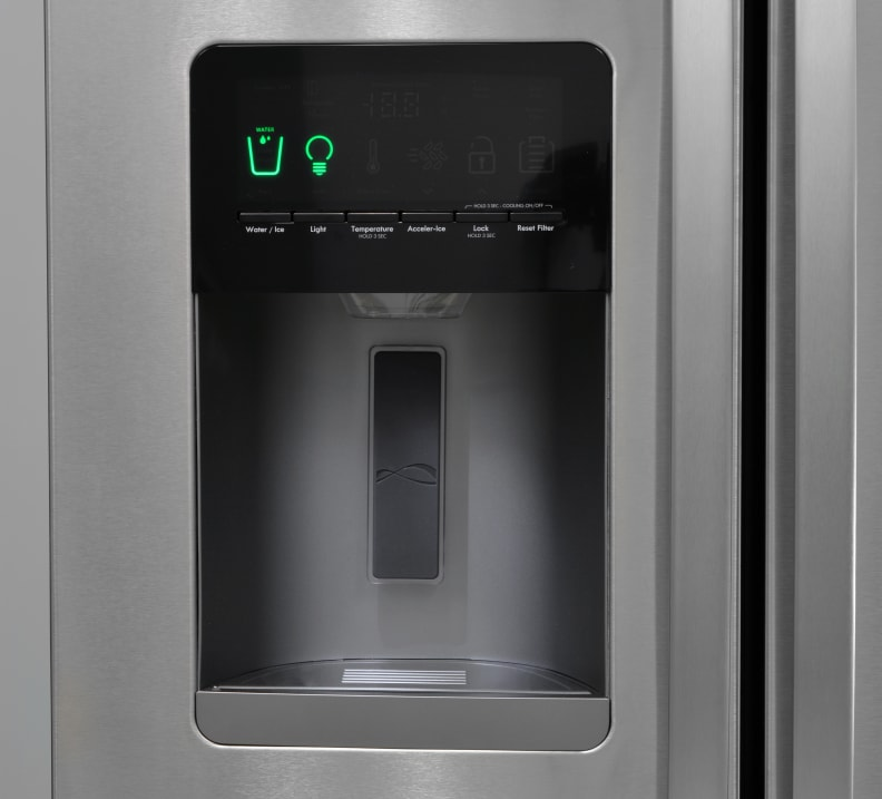 controls and water dispenser