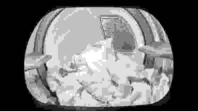 The tub light illuminates the interior of the dryer