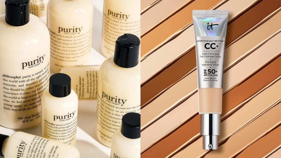 A photo of the Philosophy Purity Cleanser and the It Cosmetics CC+ Cream.