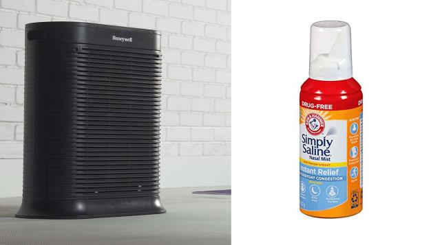 Air purifier and nasal spray