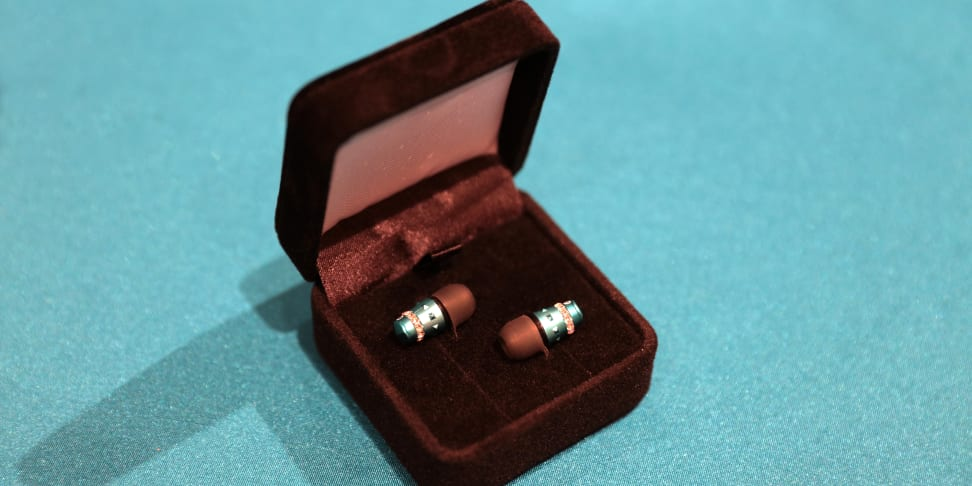 The Maroo Audio in-ears sitting in a jewelry case