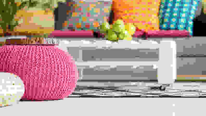 Pink-pouf