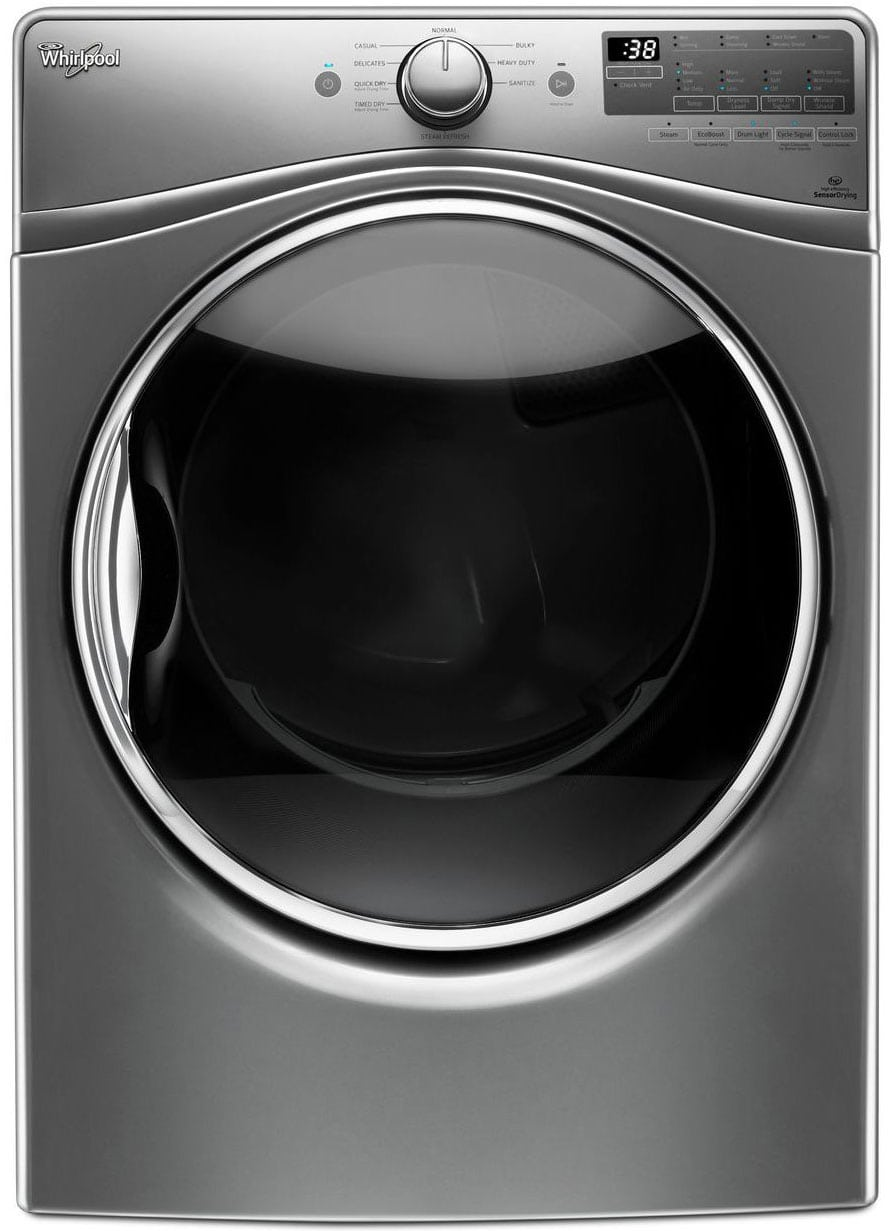 The 90HE dryer series comes in two colors, one being Whirlpool's special Chrome Shadow... which is basically gray.