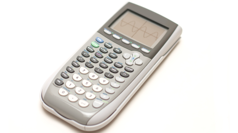 A calculator still comes in handy for students.