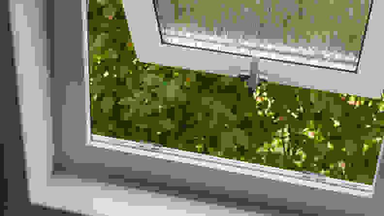 An open bathroom window