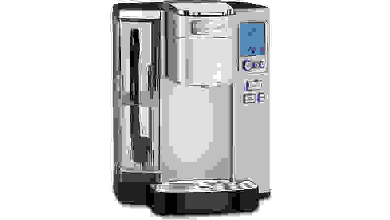 A silver Cuisinart SS-10 single-serve coffee maker.