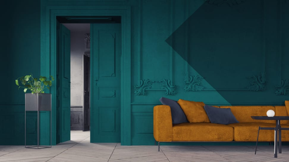 color-blocking is a rising interior design trend of 2020