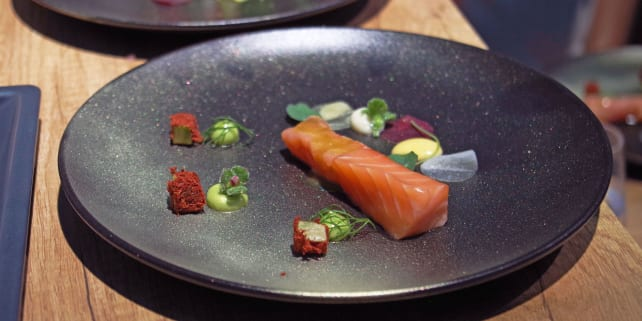 Miele Dialog — Raw and cooked salmon