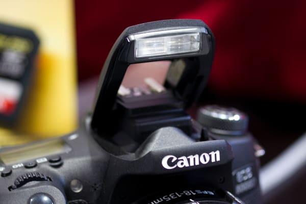 The T6s has a pop-up flash, like a lot of other mid-range DSLRs.