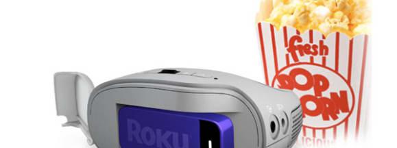 3m streaming projector roku stick tvi