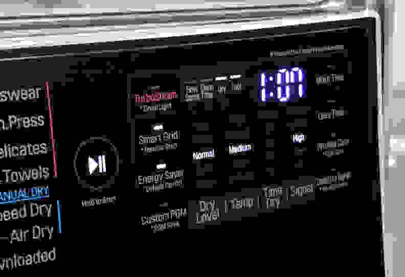 LG DLEX5000V Controls