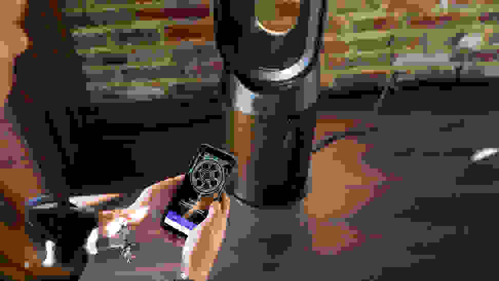Adjusting a smart fan with an phone app