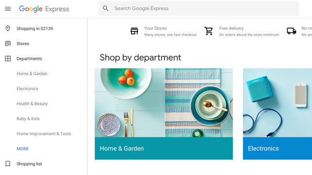 google express home page real