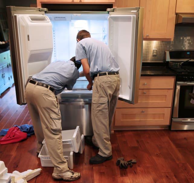 Installing new fridge