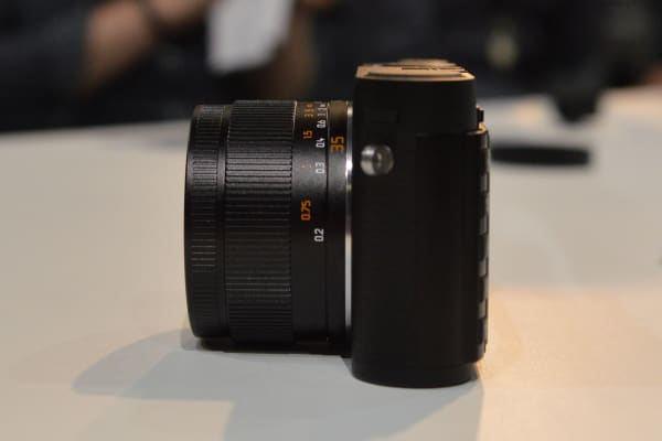 The Leica X is chunkier than most compacts in this part of the market, but it's smaller than most APS-C cameras.