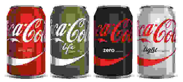 Monocolor Coca-Cola Cans