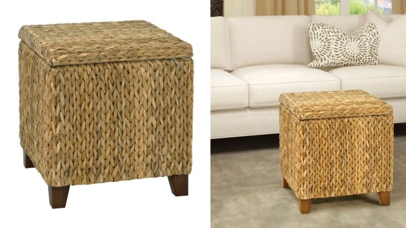 Bali Breeze Square Storage Ottoman