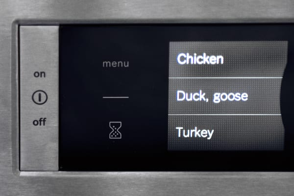 You can use your phone to prep the oven based on your choice of food.