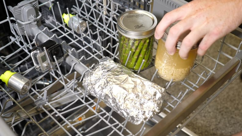 Food in dishwasher