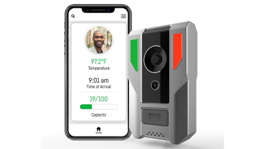 Check your health at the door: This high-tech doorbell shown at CES 2021 can check your temperature