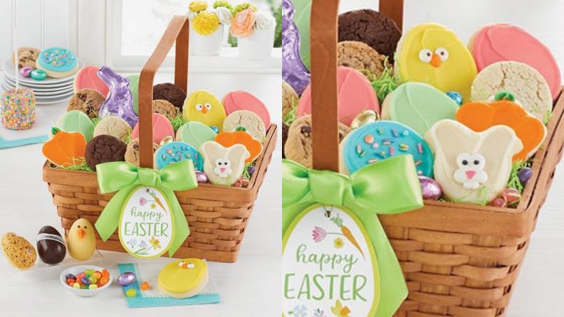 An Easter basket full of cookies