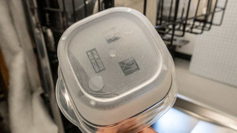 GE Café CDT875M5NS5 dishwasher review — dry plastics