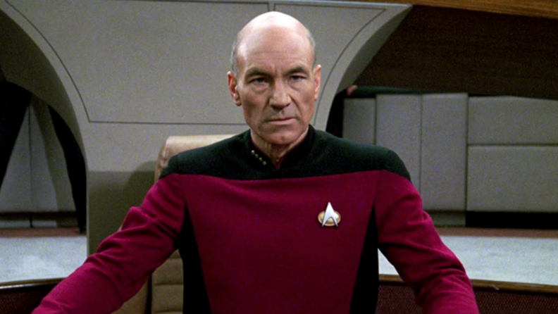 A still from 'Star Trek: The Next Generation' featuring Captain Picard