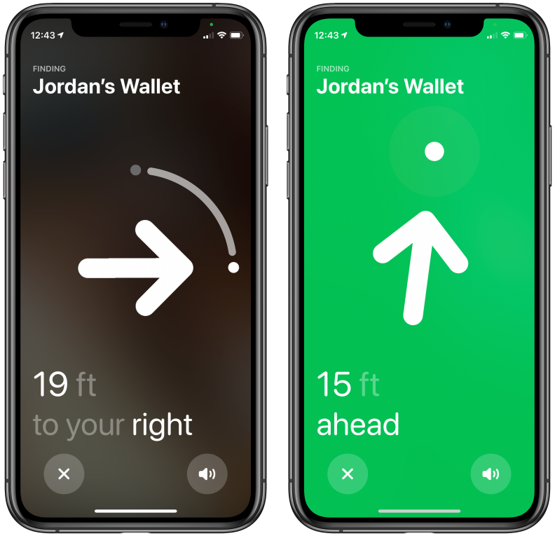 Screenshots of Apple's