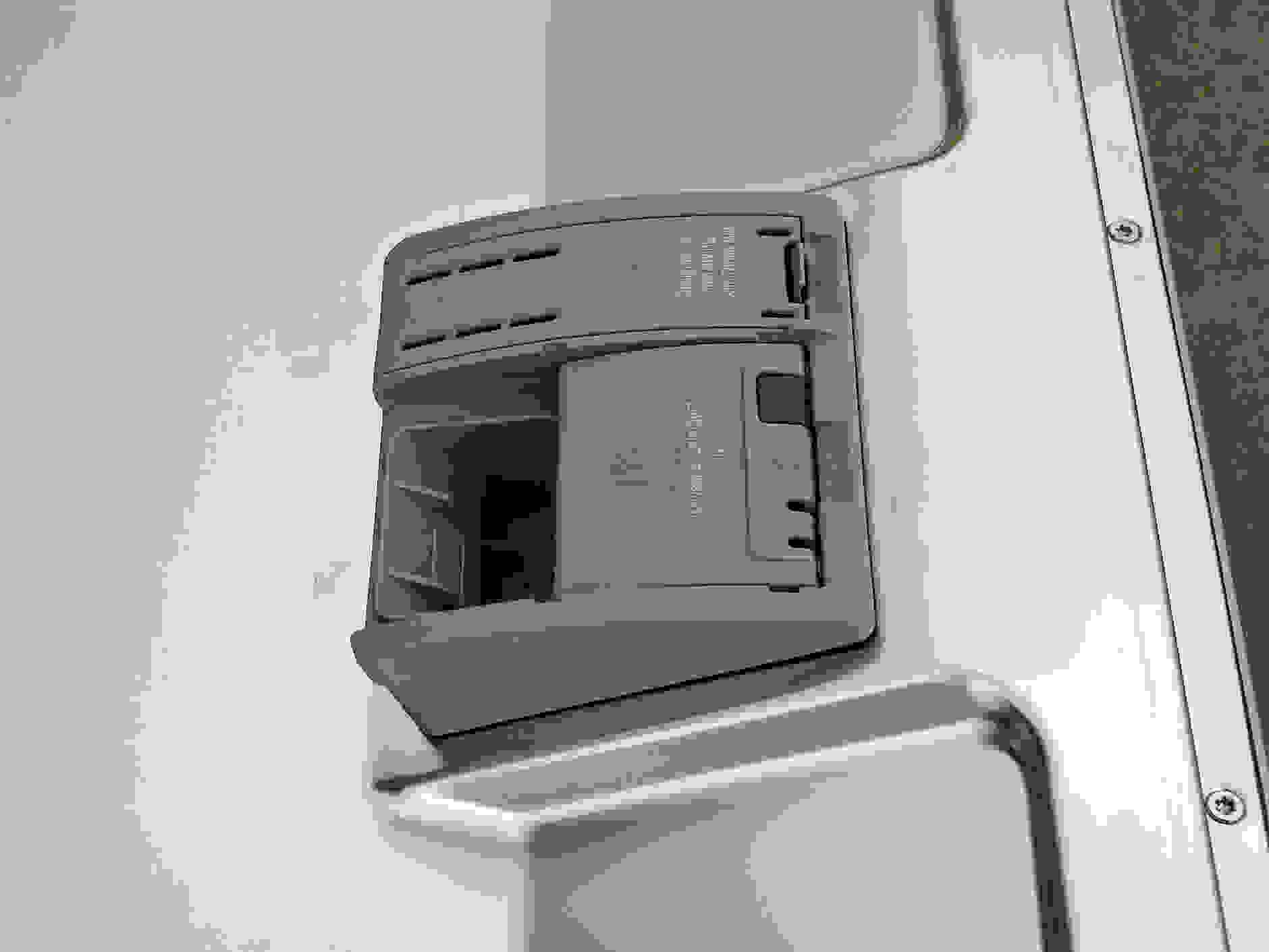 The Bosch SHP65TL5UC's detergent dispenser